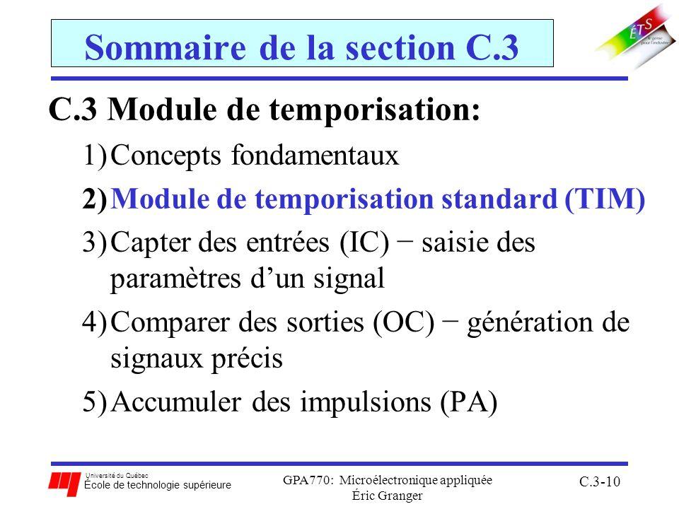 Sommaire de la section C.3