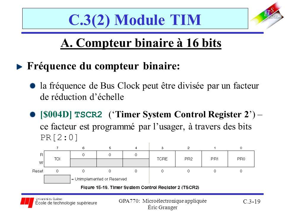 A. Compteur binaire à 16 bits