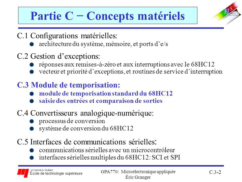 Partie C − Concepts matériels
