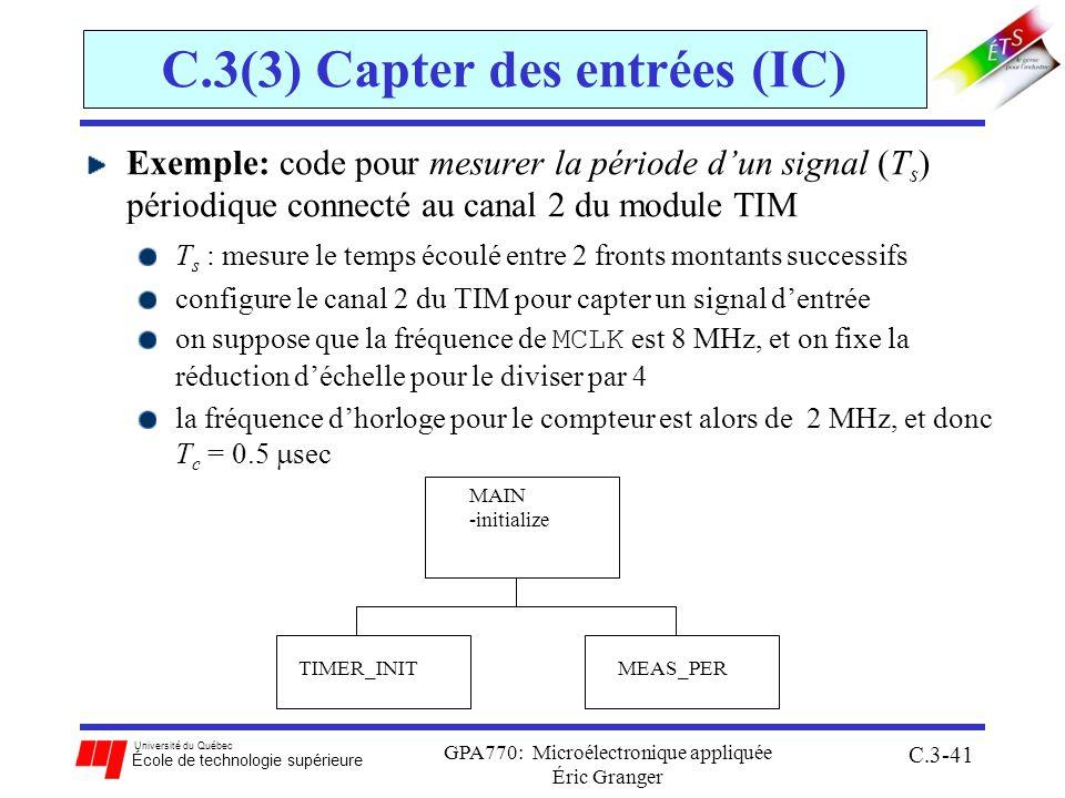 C.3(3) Capter des entrées (IC)