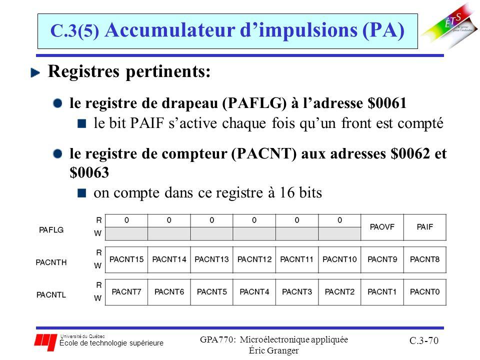 C.3(5) Accumulateur d'impulsions (PA)