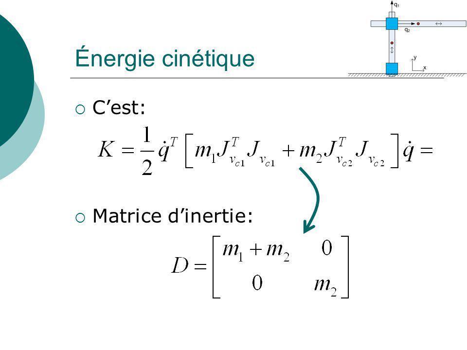 Énergie cinétique C'est: Matrice d'inertie: