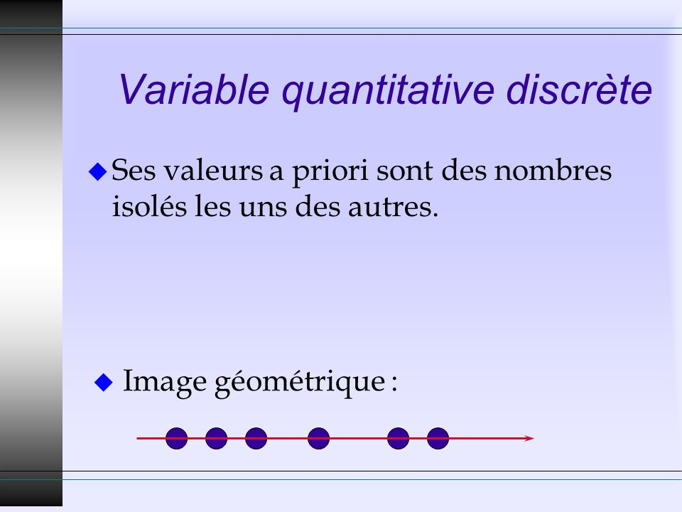 Variable quantitative discrète