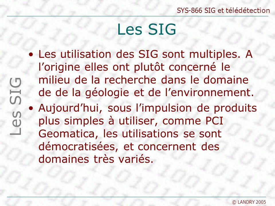 Les SIG
