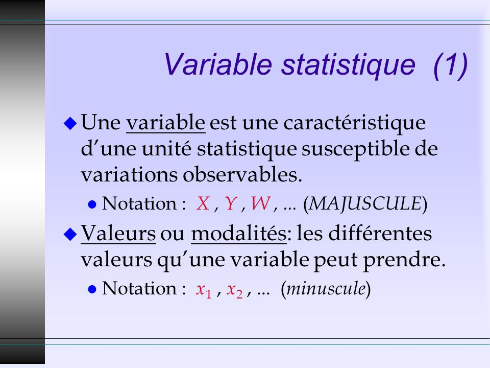 Variable statistique (1)