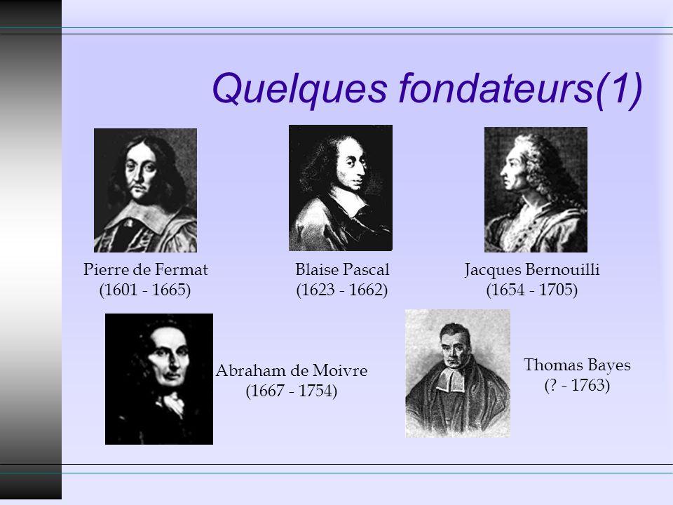Quelques fondateurs(1)