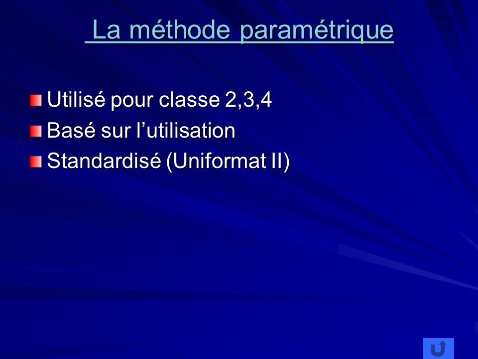 La méthode paramétrique