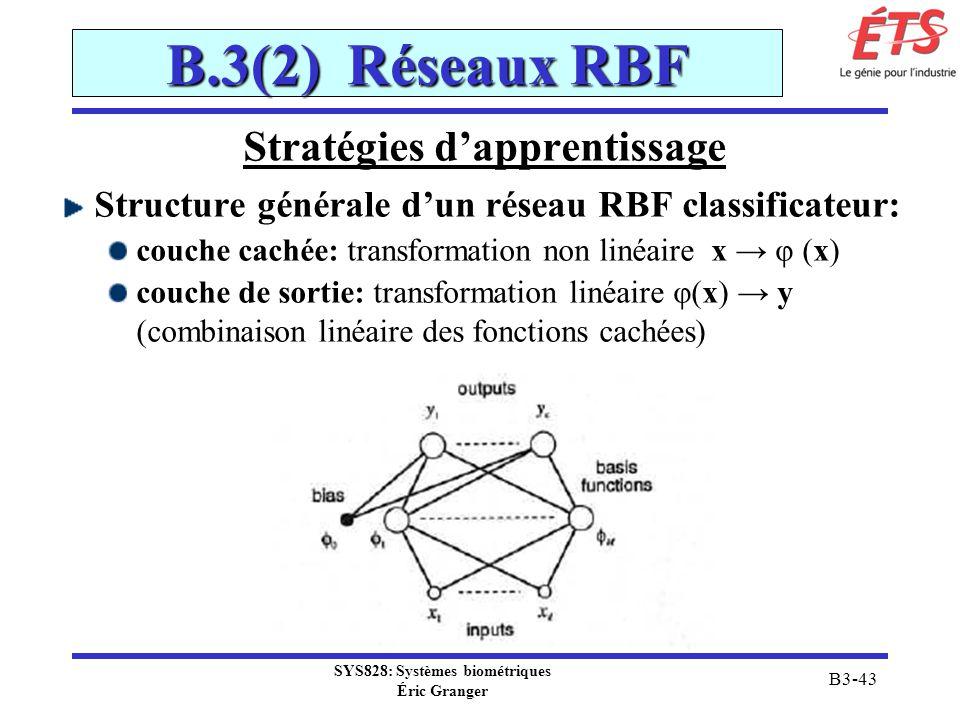 Stratégies d'apprentissage SYS828: Systèmes biométriques