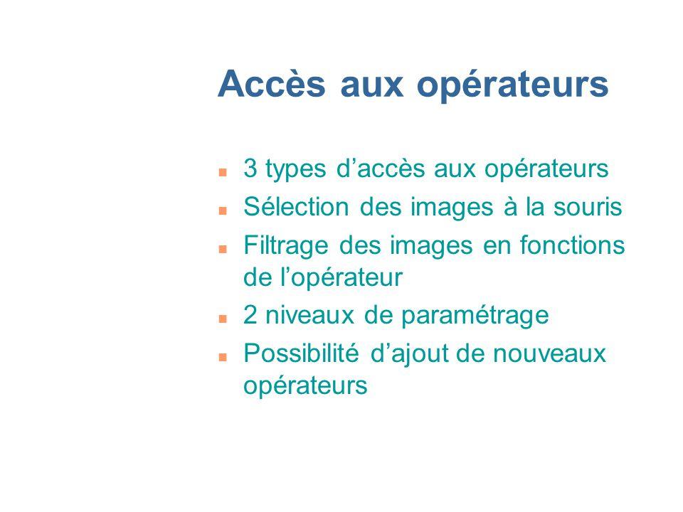 Accès aux opérateurs 3 types d'accès aux opérateurs
