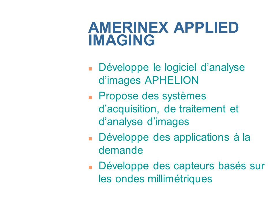 AMERINEX APPLIED IMAGING