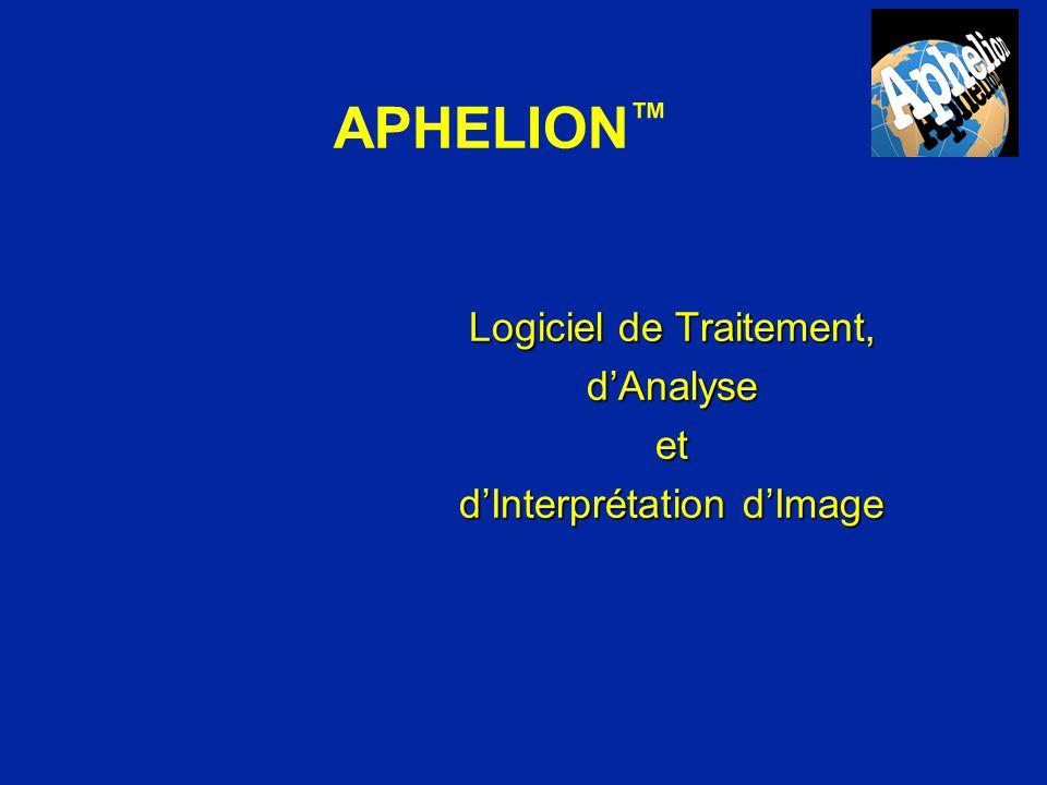 APHELION™ Logiciel de Traitement, d'Analyse et