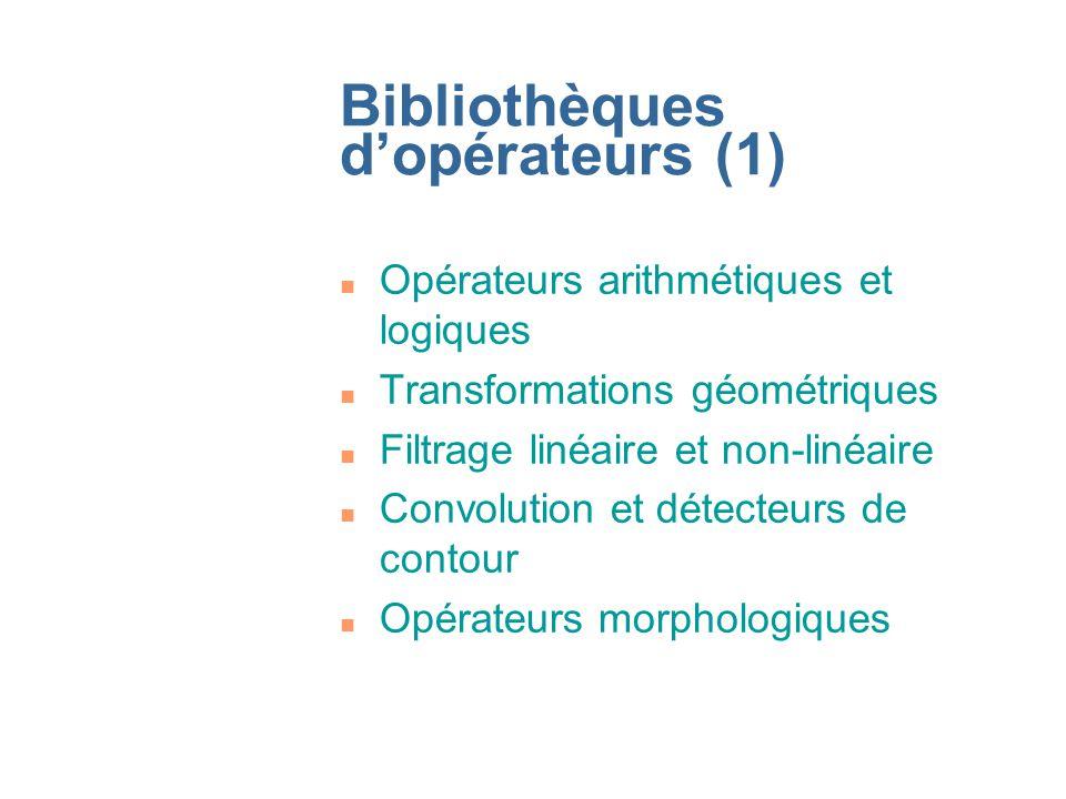 Bibliothèques d'opérateurs (1)