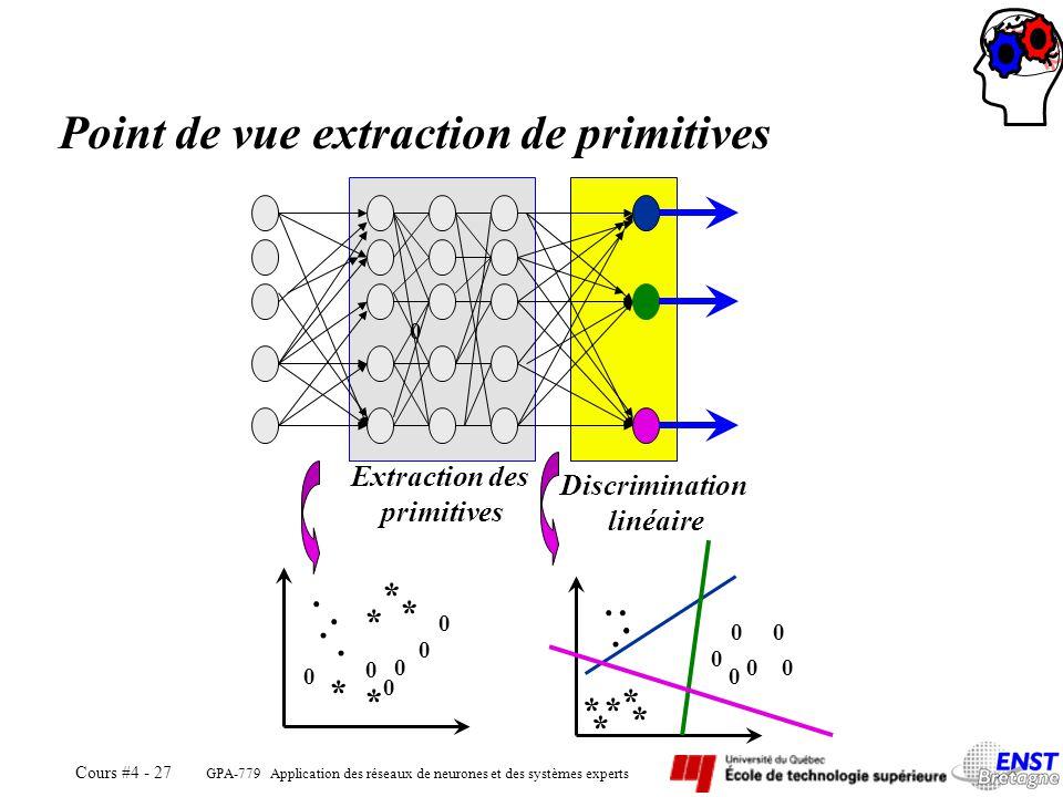 Point de vue extraction de primitives