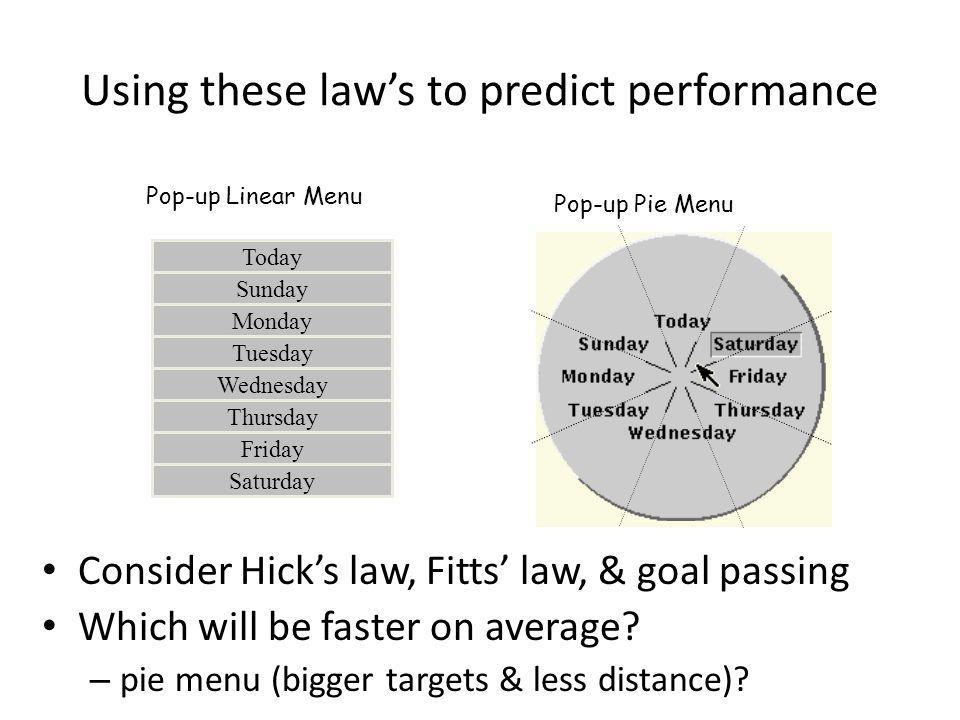 Using these law's to predict performance