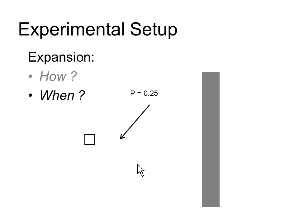 Experimental Setup Expansion: How When P = 0.25