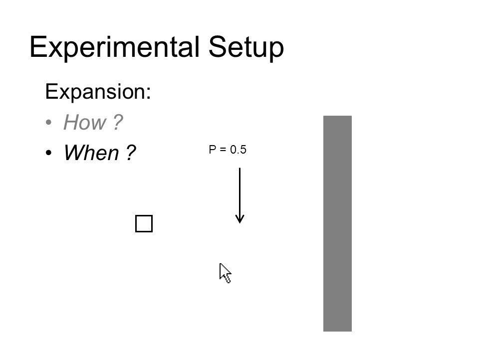 Experimental Setup Expansion: How When P = 0.5