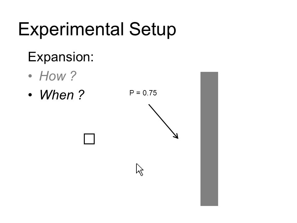 Experimental Setup Expansion: How When P = 0.75