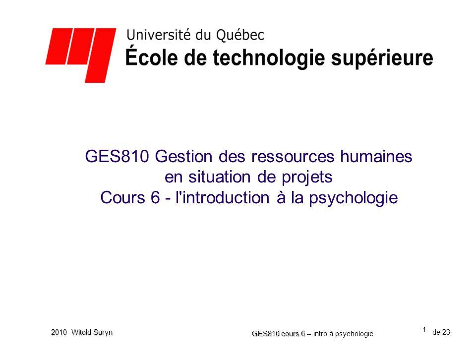 GES810 Gestion des ressources humaines en situation de projets