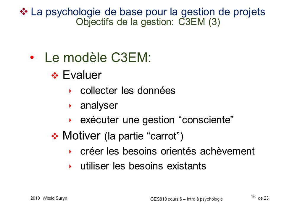 Le modèle C3EM: Evaluer Motiver (la partie carrot )