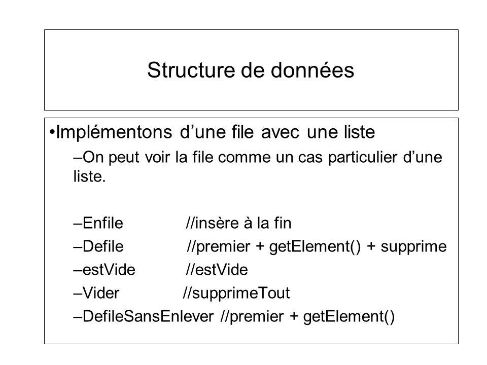 Structure de données Implémentons d'une file avec une liste