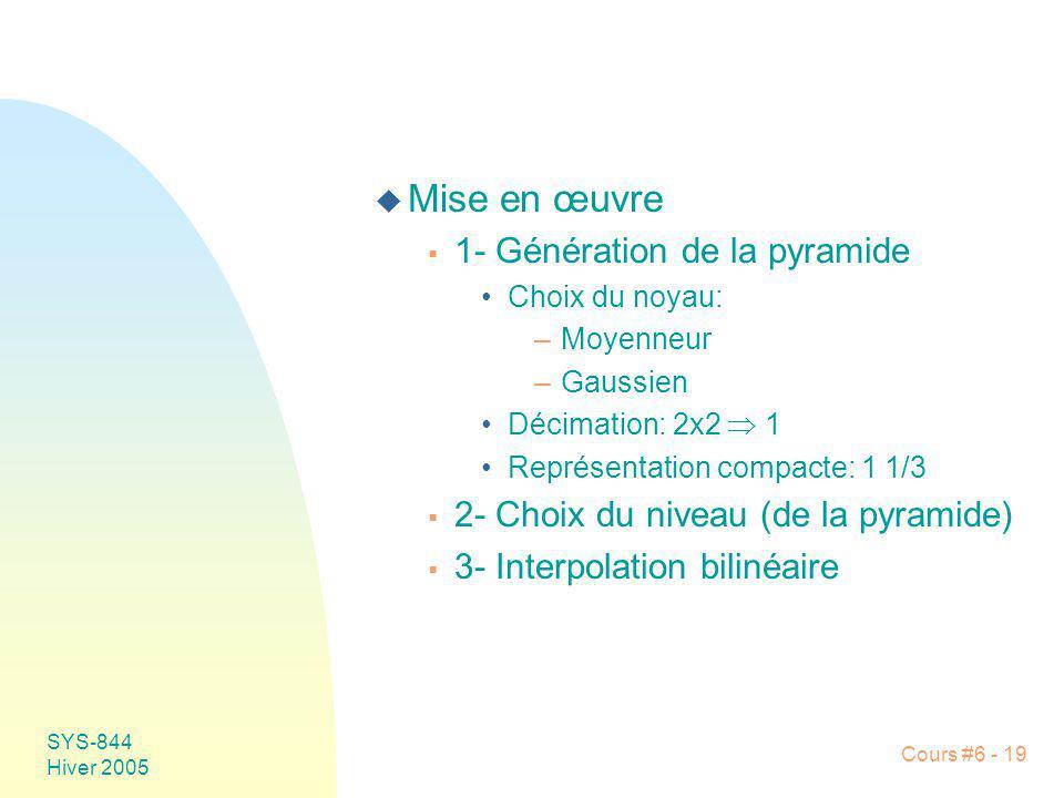Mise en œuvre 1- Génération de la pyramide