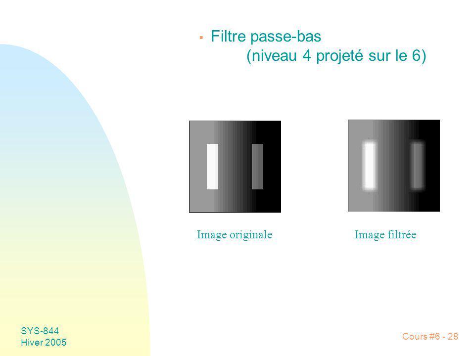 Filtre passe-bas (niveau 4 projeté sur le 6)