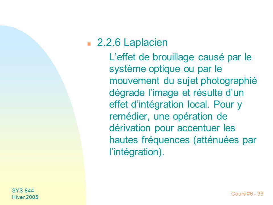 2.2.6 Laplacien