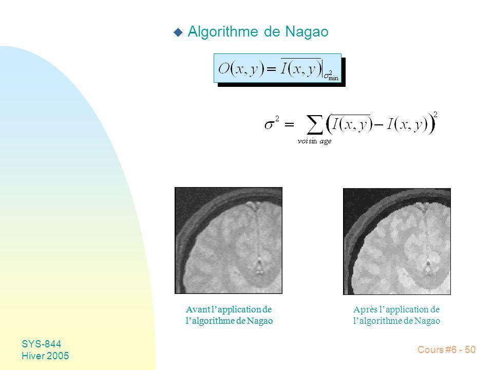 Algorithme de Nagao Avant l'application de l'algorithme de Nagao