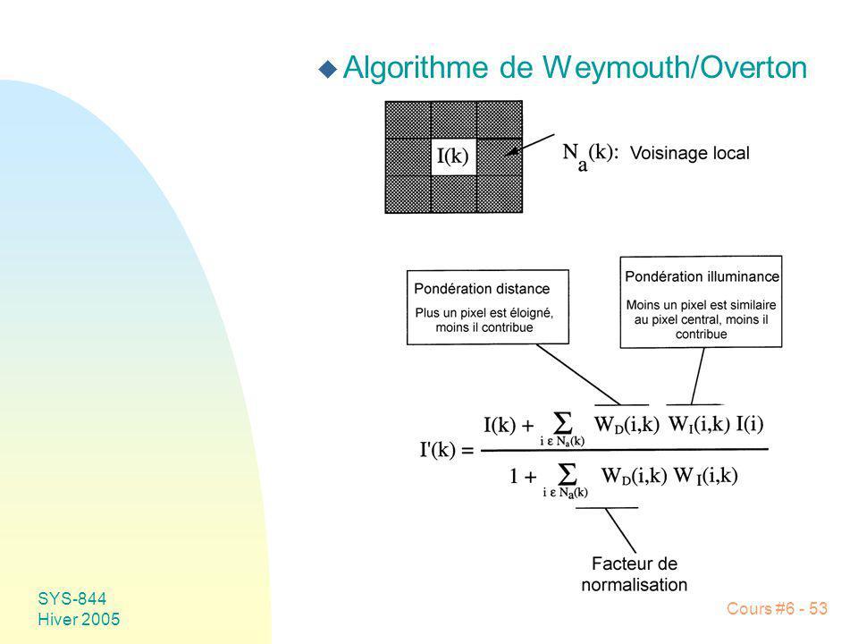 Algorithme de Weymouth/Overton