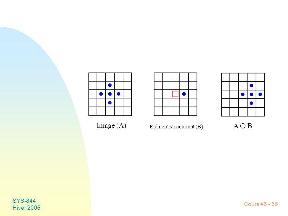 Image (A) A  B Élément structurant (B) SYS-844 Hiver 2005