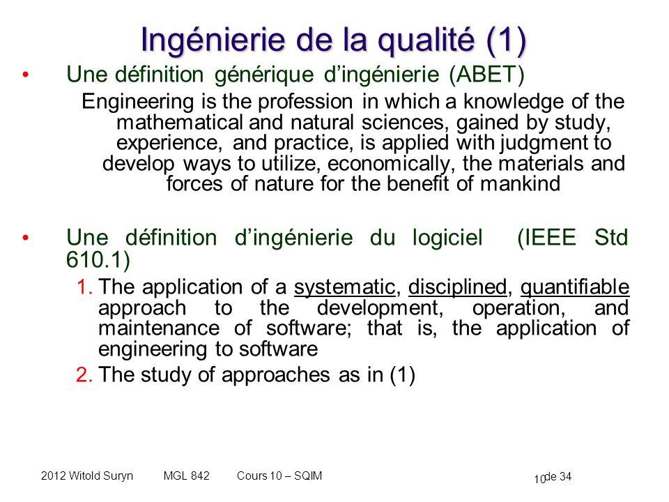 Ingénierie de la qualité (1)