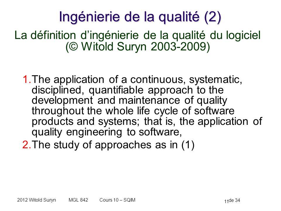Ingénierie de la qualité (2)