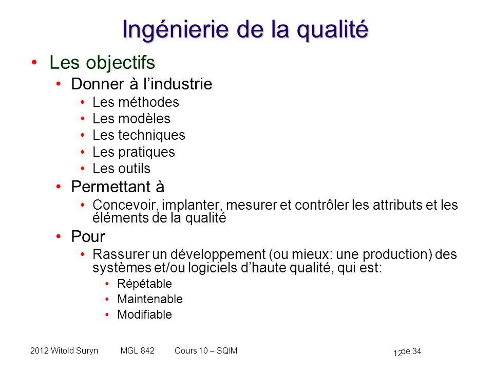 Ingénierie de la qualité
