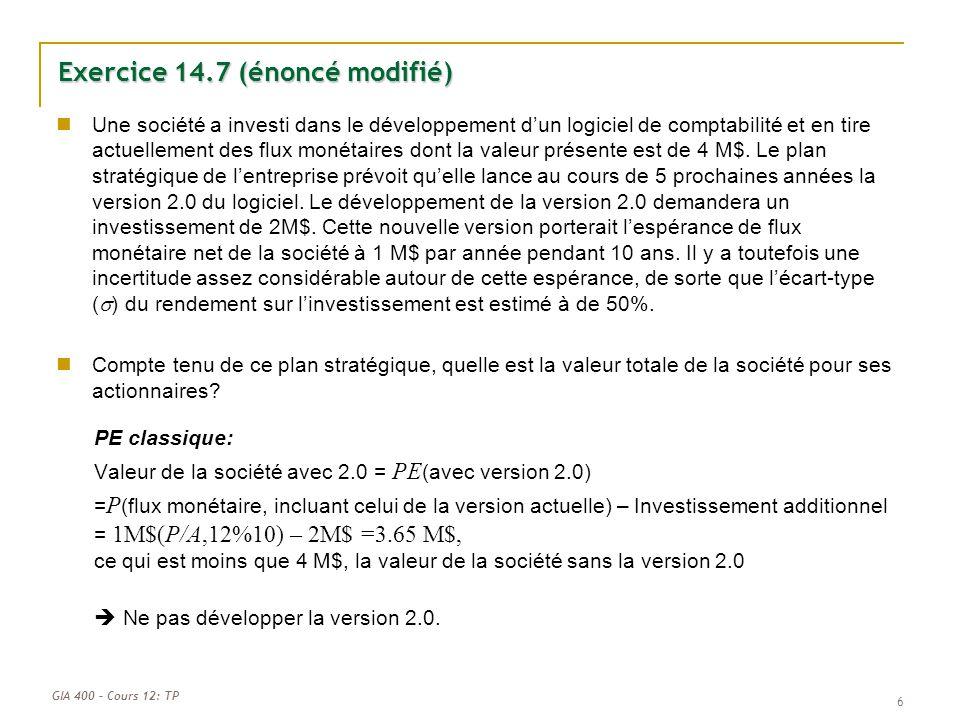 Exercice 14.7 (énoncé modifié)