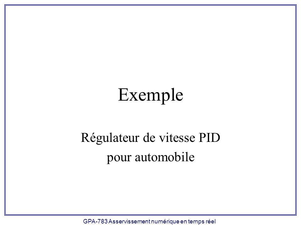Régulateur de vitesse PID pour automobile