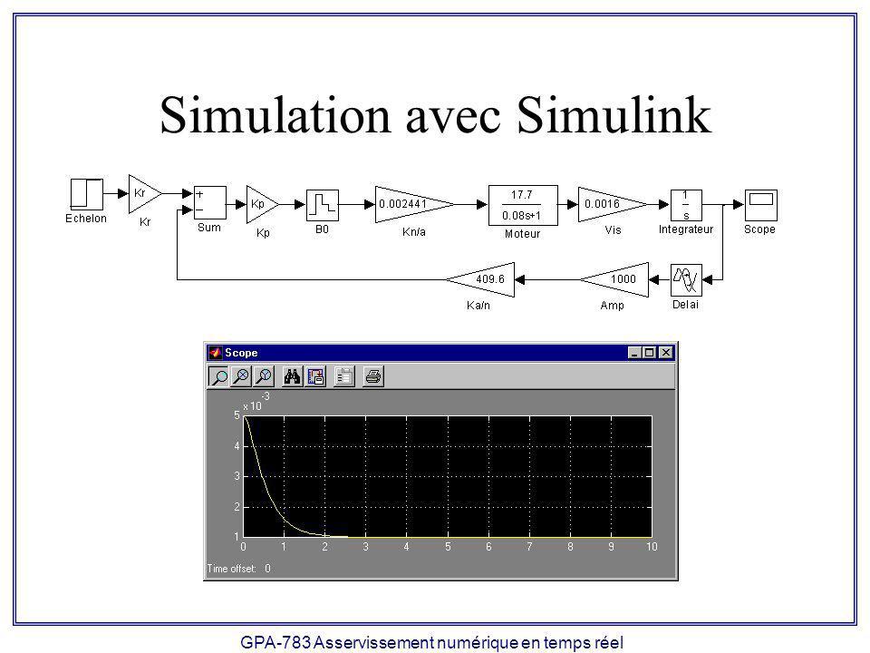 Simulation avec Simulink