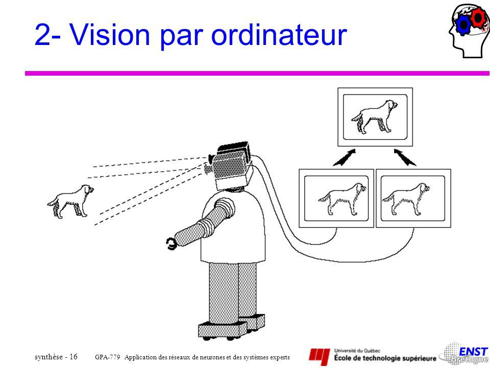 2- Vision par ordinateur