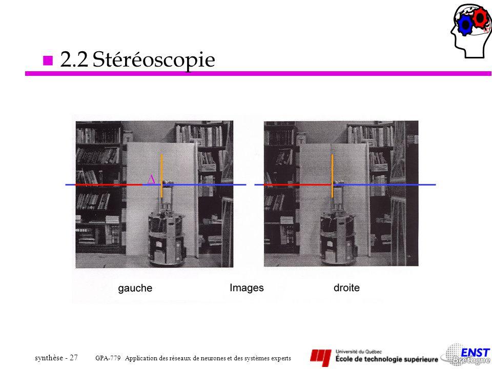 2.2 Stéréoscopie 