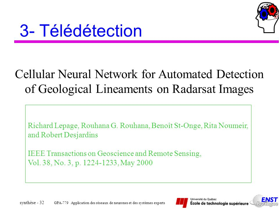3- Télédétection Cellular Neural Network for Automated Detection