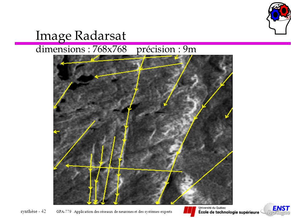 Image Radarsat dimensions : 768x768 précision : 9m