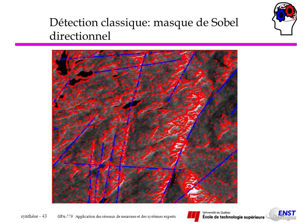 Détection classique: masque de Sobel directionnel