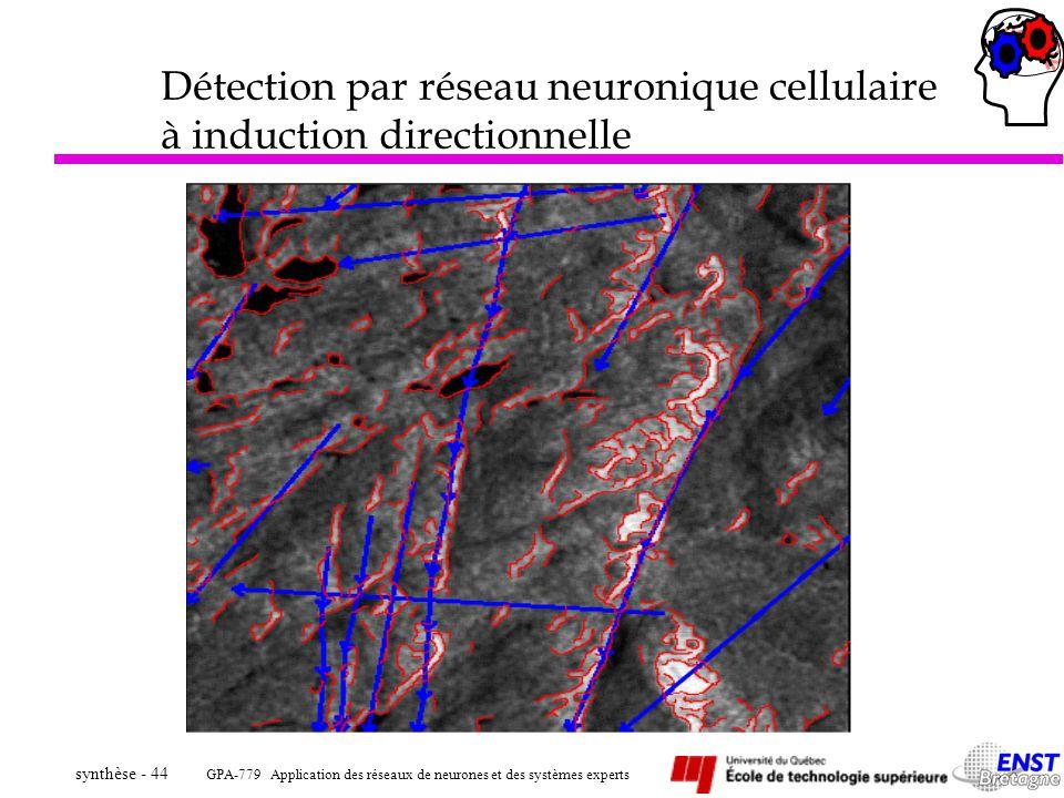 Détection par réseau neuronique cellulaire à induction directionnelle