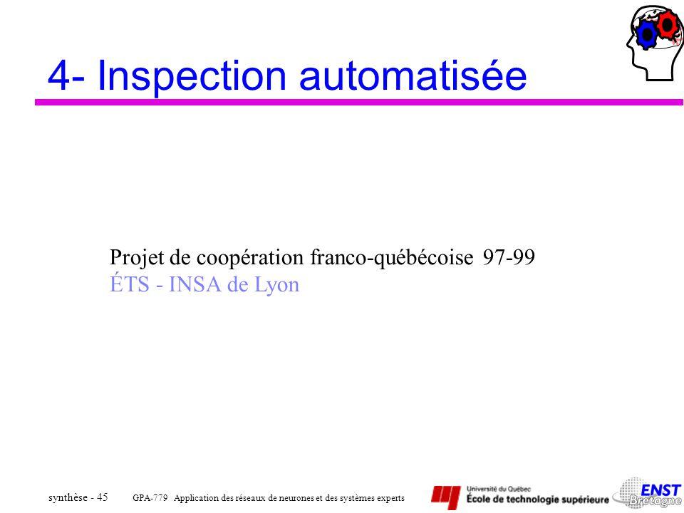 4- Inspection automatisée
