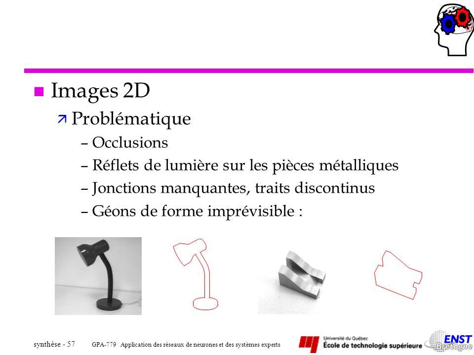 Images 2D Problématique Occlusions