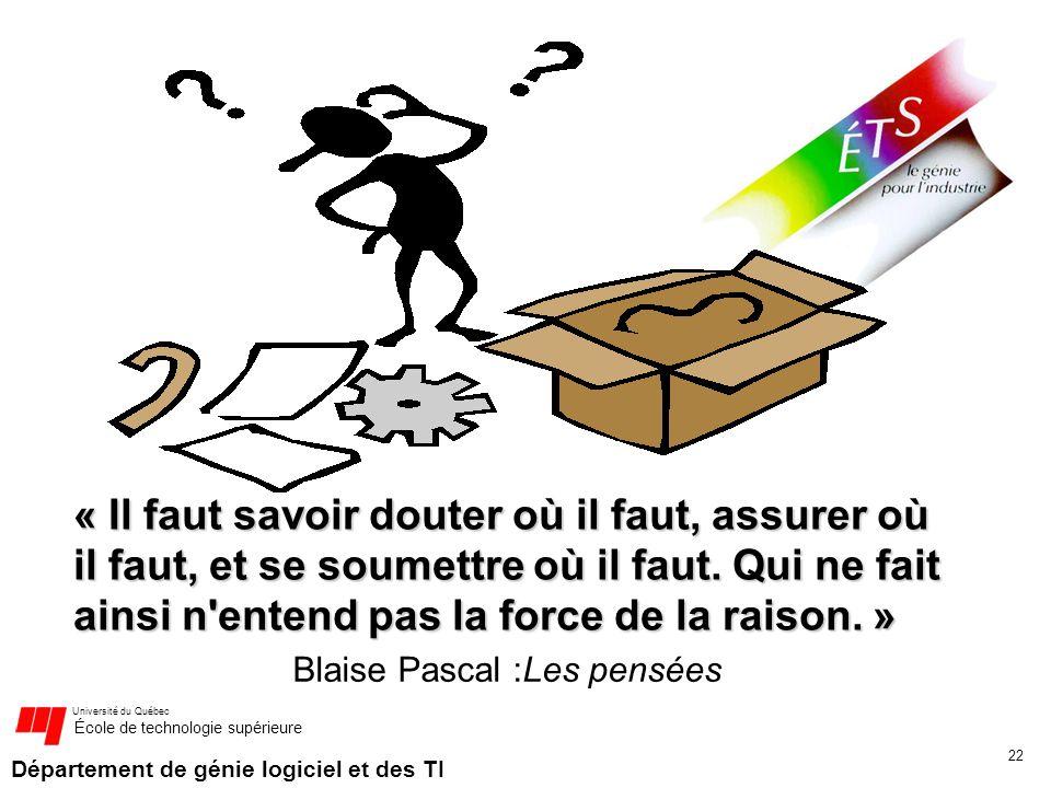 Blaise Pascal :Les pensées