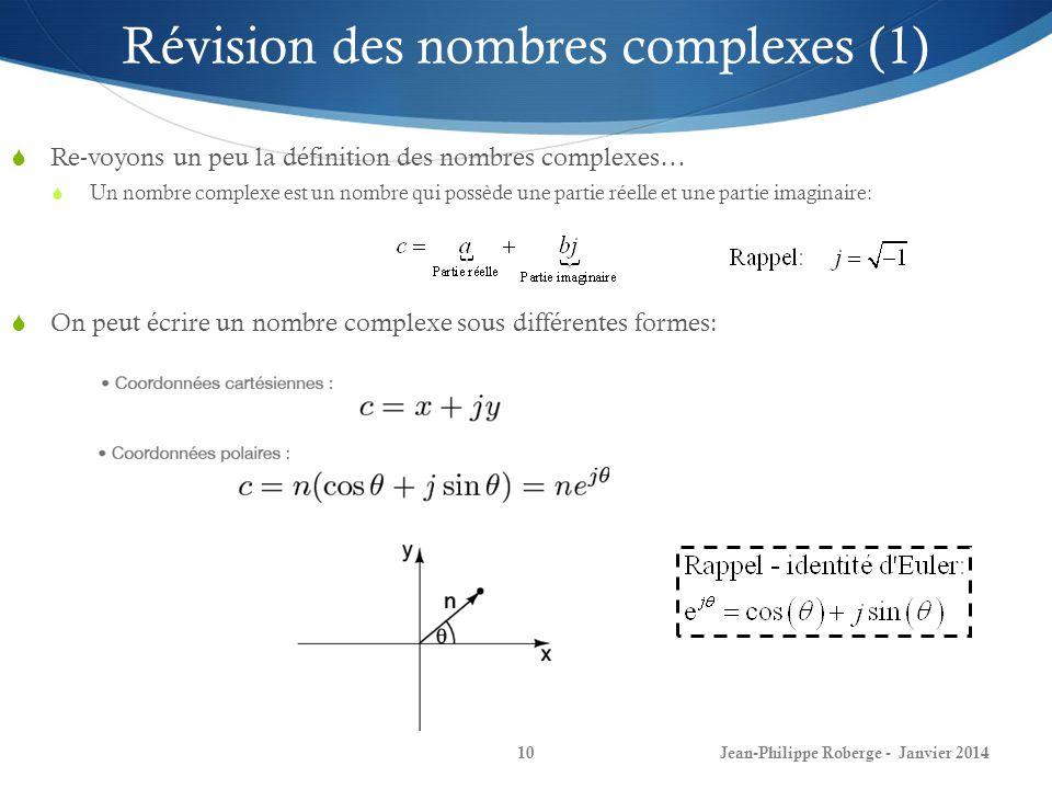 Révision des nombres complexes (1)