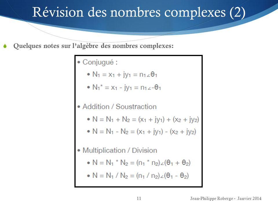 Révision des nombres complexes (2)