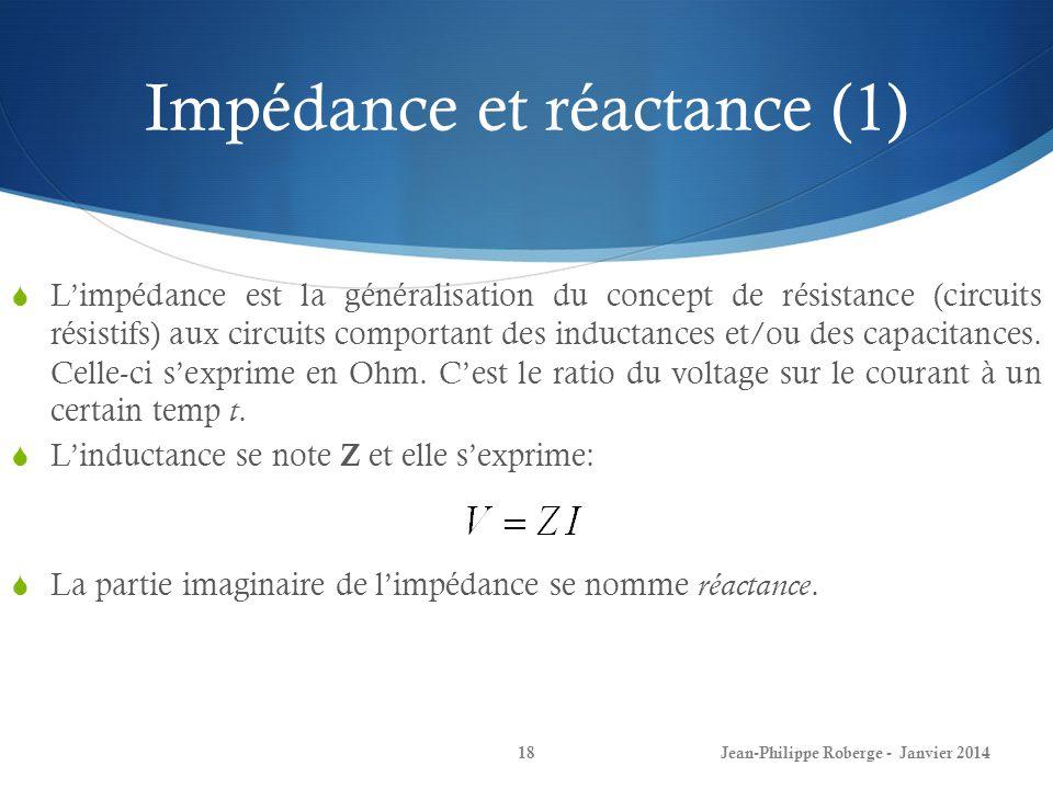 Impédance et réactance (1)