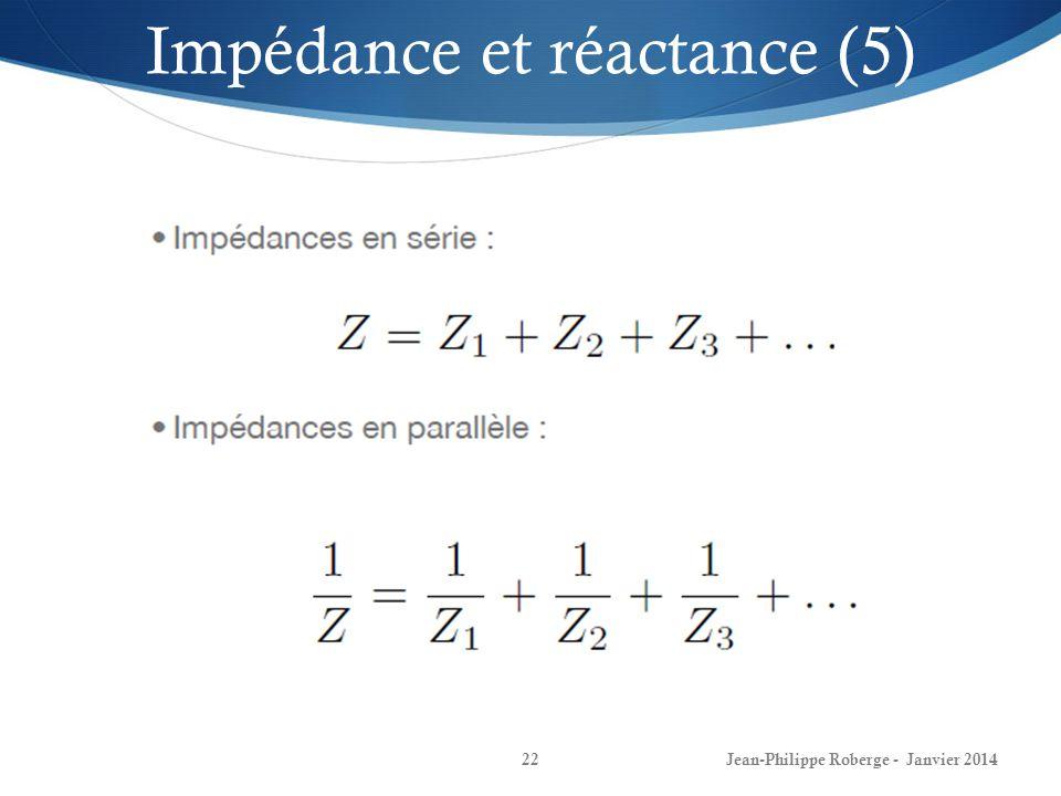 Impédance et réactance (5)