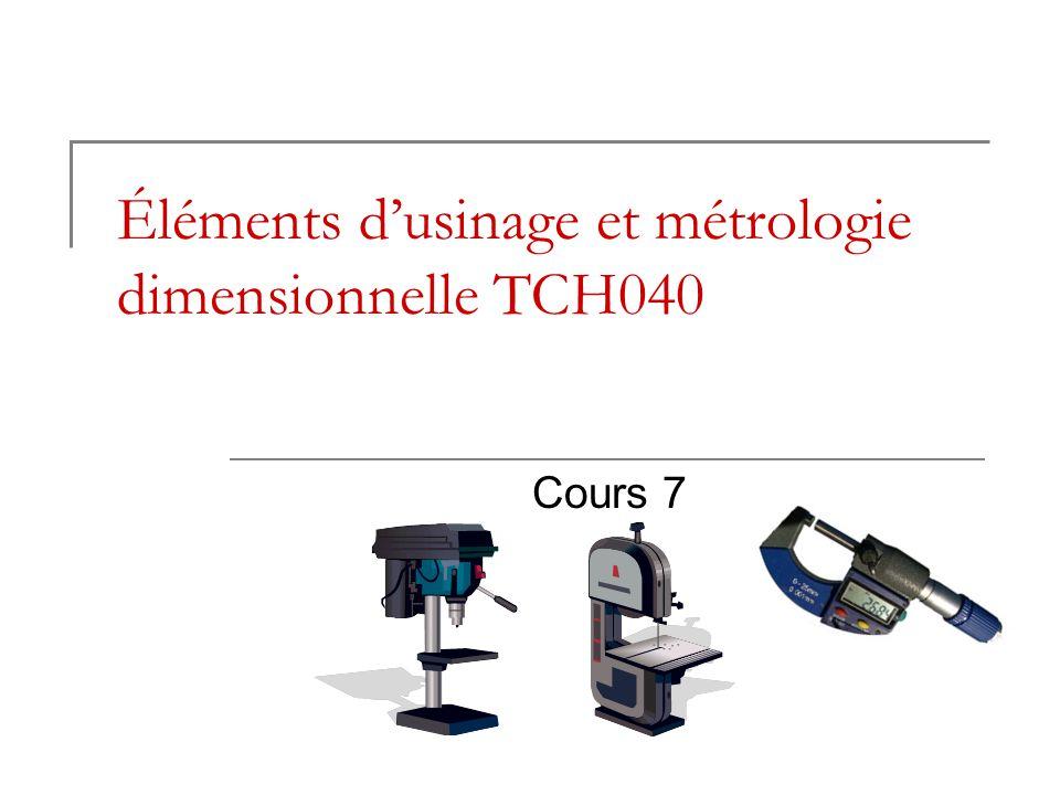 Éléments d'usinage et métrologie dimensionnelle TCH040